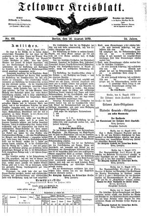 Teltower Kreisblatt vom 16.08.1879
