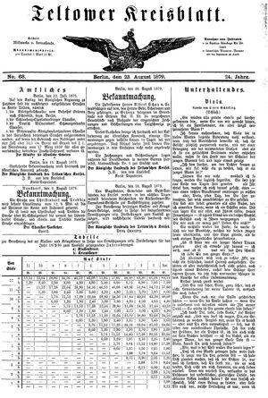 Teltower Kreisblatt vom 23.08.1879