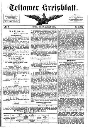 Teltower Kreisblatt vom 14.01.1882