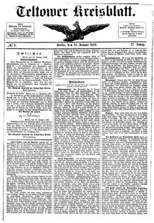 Teltower Kreisblatt vom 28.01.1882