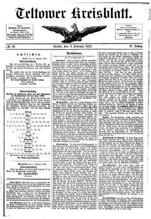 Teltower Kreisblatt vom 04.02.1882