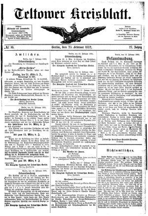 Teltower Kreisblatt vom 25.02.1882