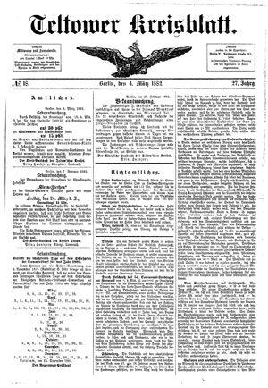 Teltower Kreisblatt vom 04.03.1882