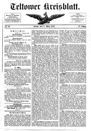 Teltower Kreisblatt vom 08.03.1882