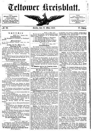 Teltower Kreisblatt vom 11.03.1882