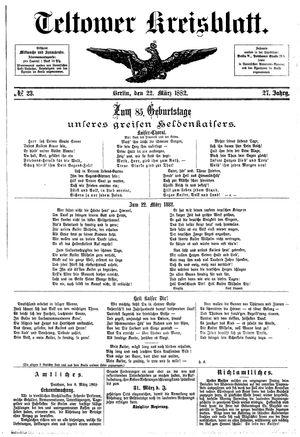 Teltower Kreisblatt vom 22.03.1882