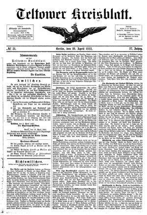 Teltower Kreisblatt vom 19.04.1882