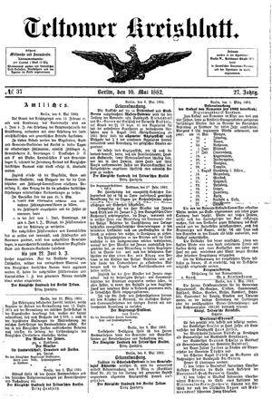 Teltower Kreisblatt vom 10.05.1882