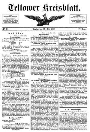 Teltower Kreisblatt vom 13.05.1882