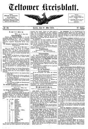 Teltower Kreisblatt vom 17.05.1882