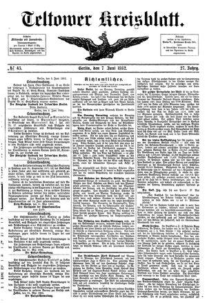 Teltower Kreisblatt vom 07.06.1882