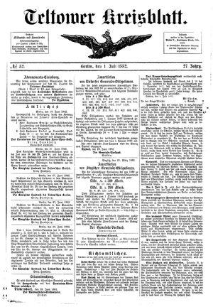 Teltower Kreisblatt vom 01.07.1882