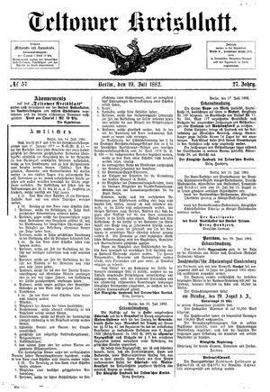 Teltower Kreisblatt vom 19.07.1882