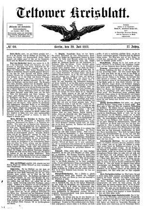 Teltower Kreisblatt vom 29.07.1882
