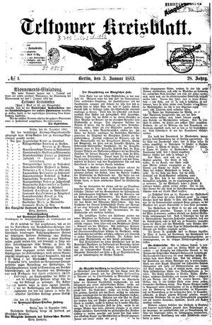 Teltower Kreisblatt vom 03.01.1883