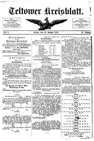 Teltower Kreisblatt vom 10.01.1883