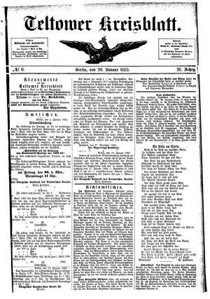 Teltower Kreisblatt vom 20.01.1883