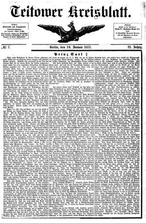 Teltower Kreisblatt vom 24.01.1883