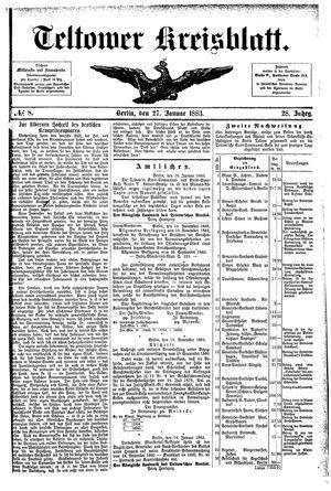 Teltower Kreisblatt vom 27.01.1883