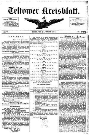 Teltower Kreisblatt on Feb 3, 1883