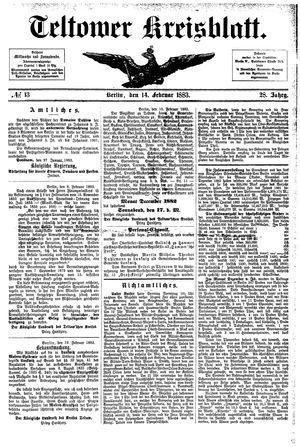 Teltower Kreisblatt vom 14.02.1883