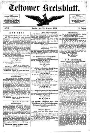 Teltower Kreisblatt vom 28.02.1883