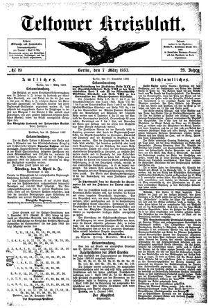 Teltower Kreisblatt vom 07.03.1883