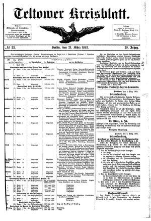 Teltower Kreisblatt vom 21.03.1883