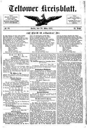 Teltower Kreisblatt vom 24.03.1883