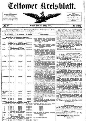 Teltower Kreisblatt vom 28.03.1883