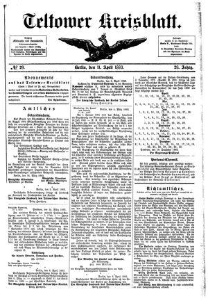 Teltower Kreisblatt vom 11.04.1883