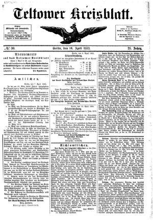 Teltower Kreisblatt vom 14.04.1883