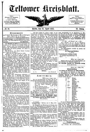 Teltower Kreisblatt vom 18.04.1883