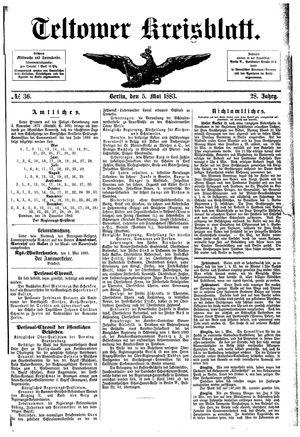 Teltower Kreisblatt vom 05.05.1883