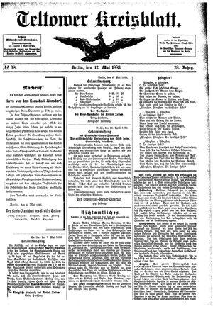 Teltower Kreisblatt vom 12.05.1883