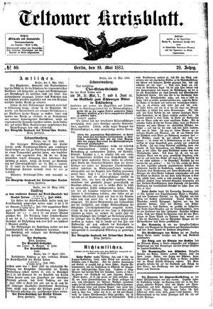 Teltower Kreisblatt vom 19.05.1883