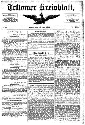 Teltower Kreisblatt vom 23.05.1883