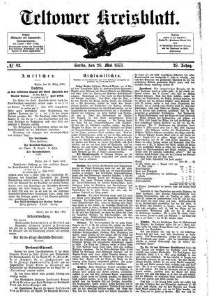 Teltower Kreisblatt vom 26.05.1883