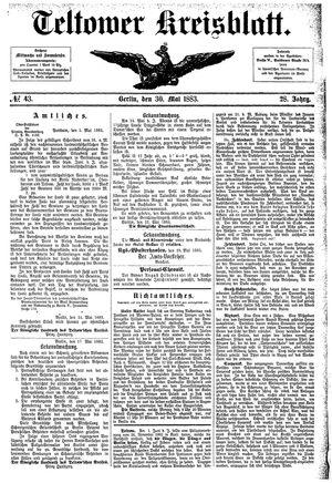 Teltower Kreisblatt vom 30.05.1883