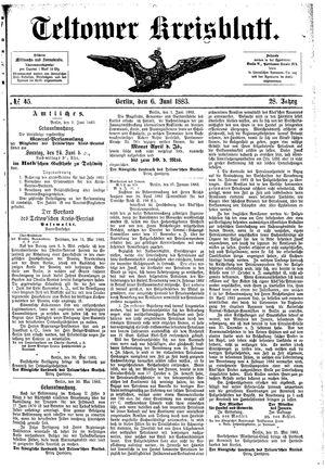 Teltower Kreisblatt vom 06.06.1883