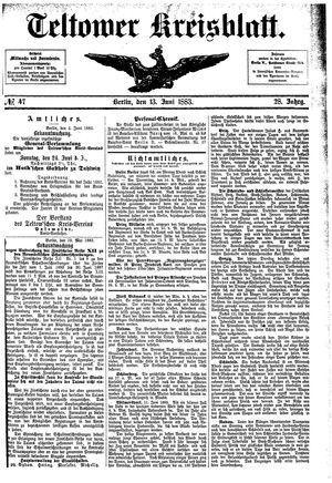 Teltower Kreisblatt on Jun 13, 1883