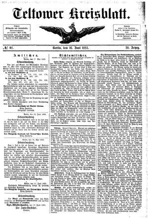 Teltower Kreisblatt vom 16.06.1883