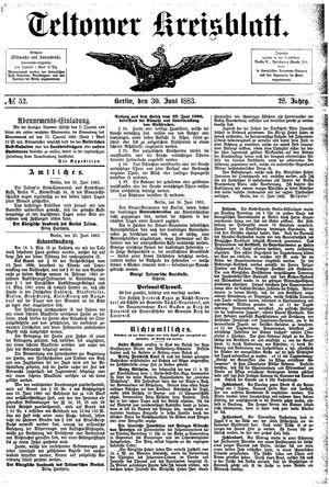 Teltower Kreisblatt vom 30.06.1883