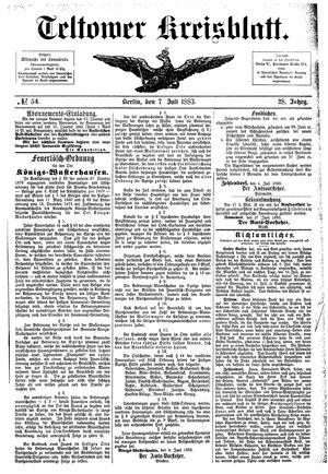 Teltower Kreisblatt vom 07.07.1883