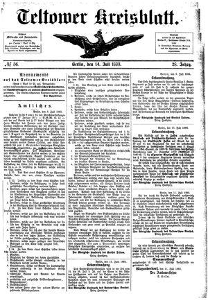 Teltower Kreisblatt vom 14.07.1883