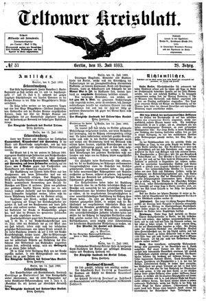 Teltower Kreisblatt vom 18.07.1883