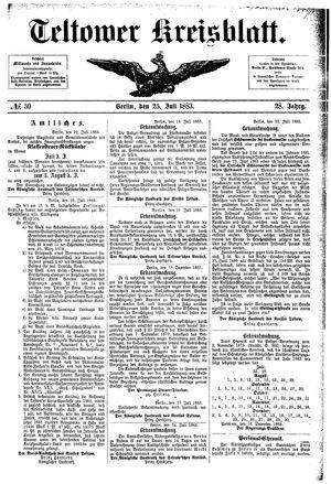 Teltower Kreisblatt vom 25.07.1883
