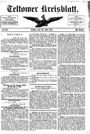 Teltower Kreisblatt vom 29.07.1883