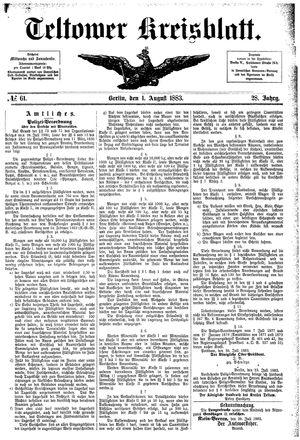 Teltower Kreisblatt vom 01.08.1883