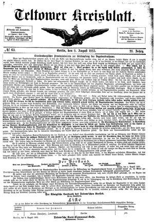 Teltower Kreisblatt vom 08.08.1883